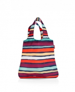 Siatka na zakupy mini maxi shopper artist stripes