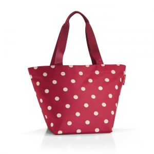 Torba shopper M ruby dots