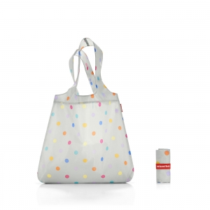 Siatka na zakupy mini maxi shopper grey dots