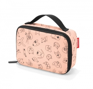 Torba na śniadanie thermocase kids cats and dogs rose