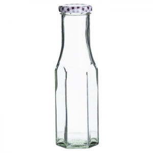 Butelka heksagonalna 250 ml. Twist Top Bottles